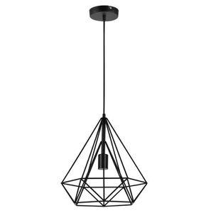 PLAFONNIER lux.pro LED lampe à suspension Industria noir - pl
