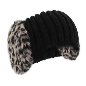 BONNET - CAGOULE Bandeau tricoté élastiqué avec cache-oreilles - Fe a6e82326616