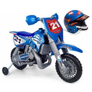 MOTO - SCOOTER FEBER Moto Electrique Enfant X Cross 6 Volts avec