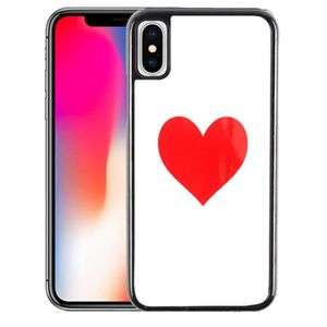 coque iphone xr rouge coeur