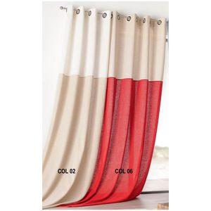 rideau bicolore achat vente rideau bicolore pas cher. Black Bedroom Furniture Sets. Home Design Ideas