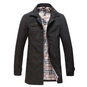 Imperméable - Trench Homme Trench Coat Classique Manteau Coupe-Vent Pri ... b0ea158b5be