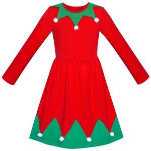 0336a8c7a9e06 ROBE Sunny Fashion Robe Fille Sapin de Noël Pompons Man