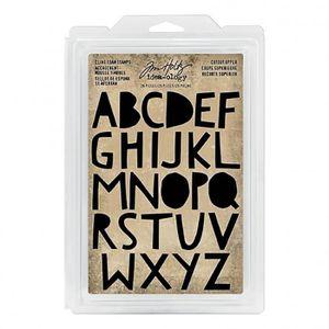TAMPON DÉCORATIF Set de tampons caoutchouc monté mousse Alphabet ma
