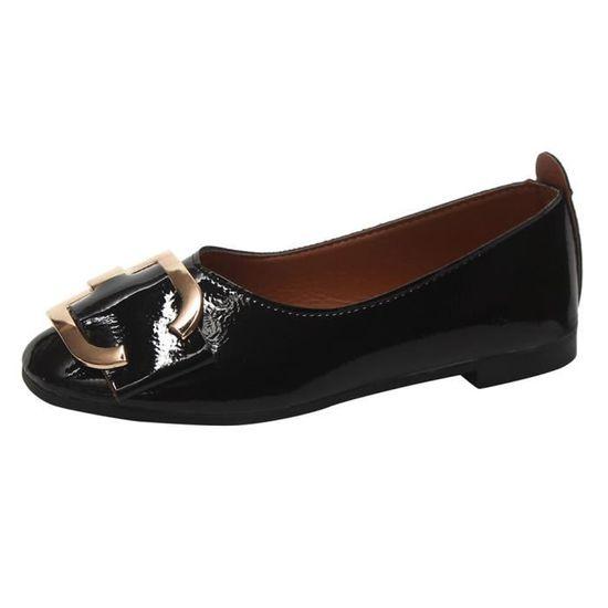 Beguinstore® femme Shallow Weave Bowknot bout rond à talon bas Slip On Chaussures simples Chaussures Beige_love1042 Noir Noir - Achat / Vente slip-on