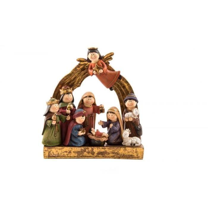 Santon de Noël en résine 20x6,5x21 cm