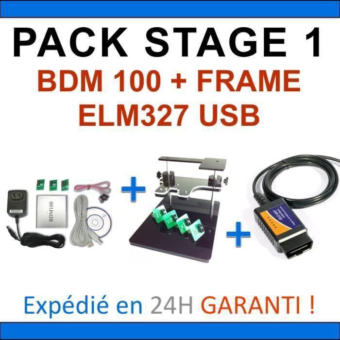 reprogrammation calculateur pack complet interfaces bdm100 bdm frame elm327 usb. Black Bedroom Furniture Sets. Home Design Ideas