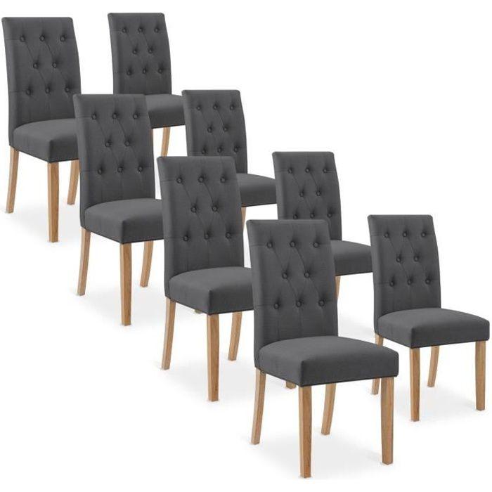 lot de 8 chaises salle a manger - achat / vente lot de 8 chaises