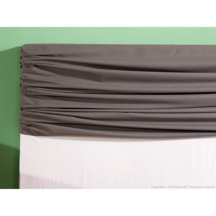 housse tête de lit unie 100% coton bachette hauteur 120cm alacasa