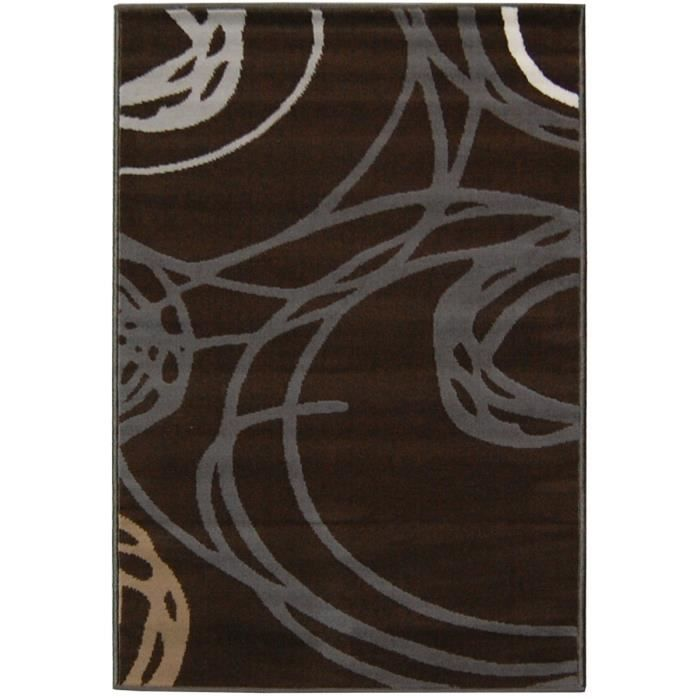 tapis paris marron achat vente pas cher. Black Bedroom Furniture Sets. Home Design Ideas