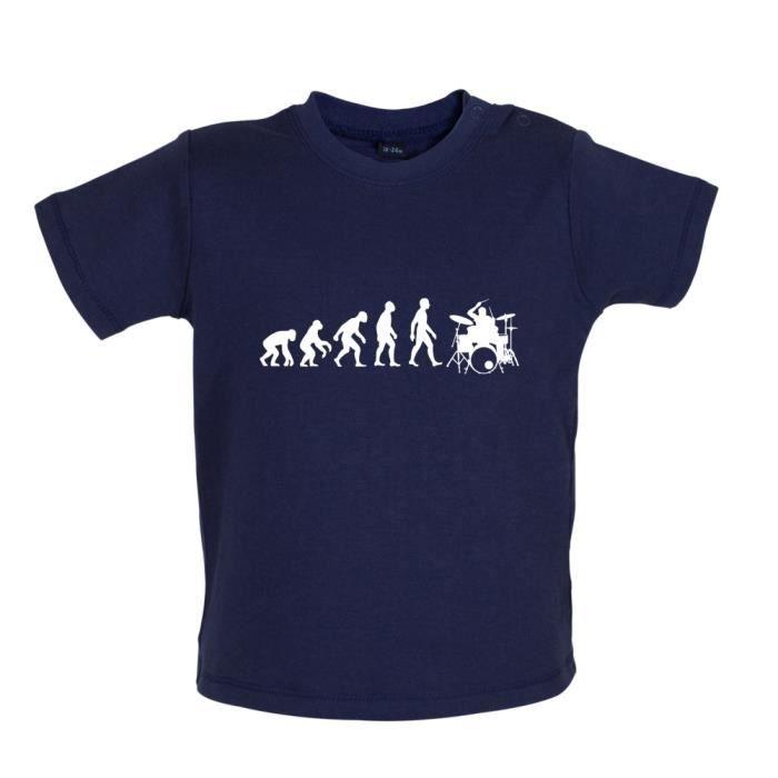 Evolution de l'homme Batterie (instrument) - T-shirt