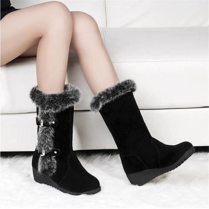 Botte Femme Hiver Peluche Doux Qualité Supérieure Chaussure Simple Garde Au Chaud Confortable Bottes Simple Taille 35-40