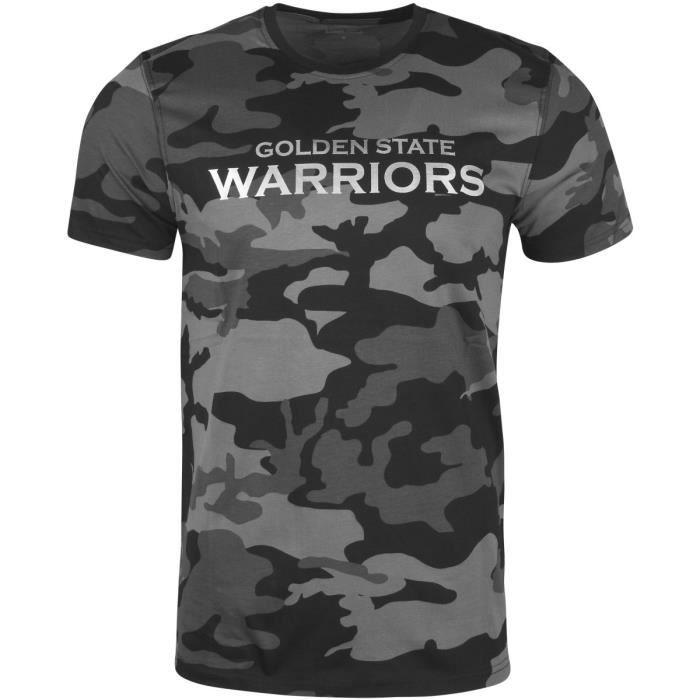 f95cb18737d50 New Era Shirt - NBA Golden State Warriors gris camo Gris Gris ...