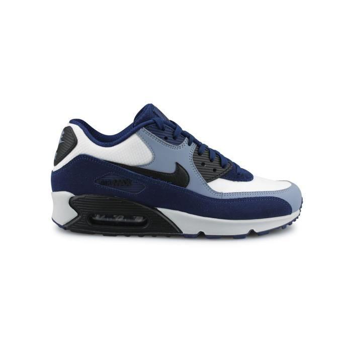 3f21ba2e88d30 Basket Nike Air Max 90 Leather Bleu 302519-400 Bleu Bleu - Achat ...