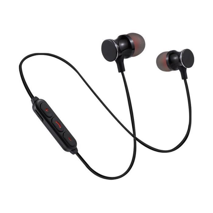 Oem - Ecouteurs Bluetooth Metal Pour Meizu M6t Smartphone Sans Fil Telecommande Son Main Libre Intra Auric Couleur:noir