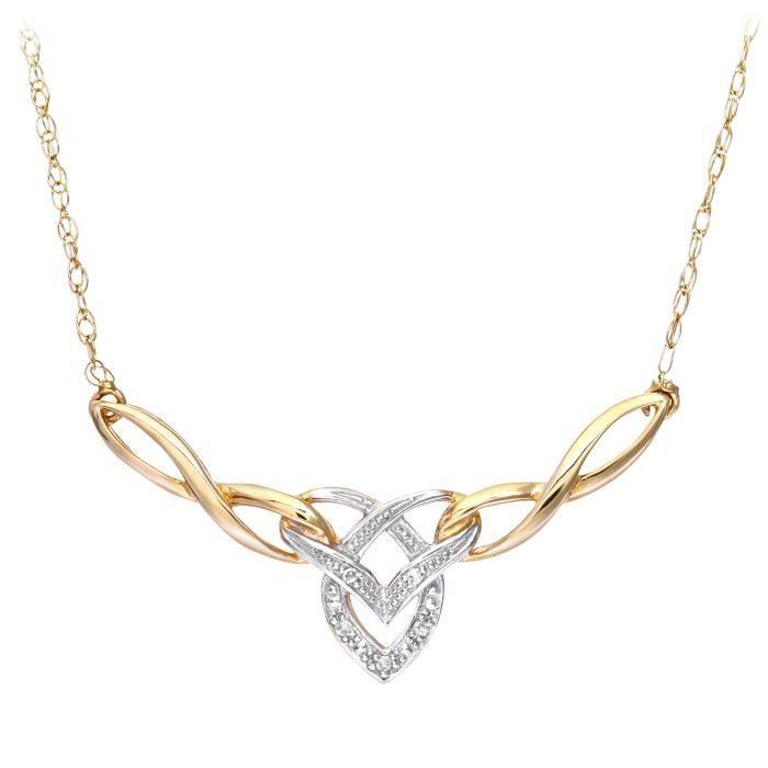 Revoni - Collier en or jaune 9 carats et diamants - REVCDPNE01704Y ... 29623fe4fcb5