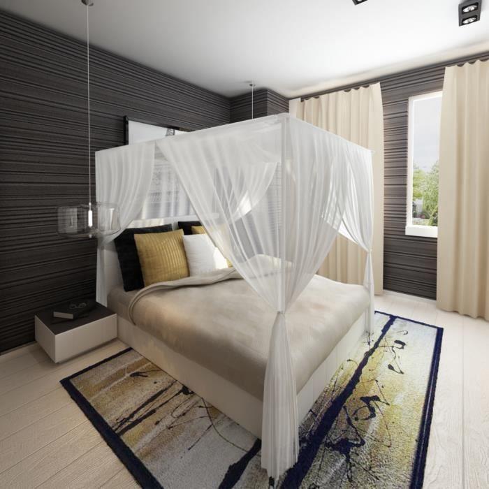 moustiquaire pour lit 4 bords achat vente ciel de lit. Black Bedroom Furniture Sets. Home Design Ideas