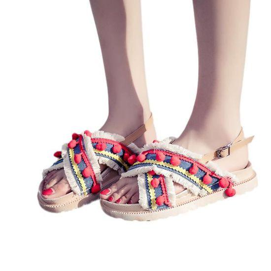 De Poisson Boucle Chaussures Femmes Escarpin blanc Bouche Strass Sandales Pente Benjanies Plate O8nP0kw