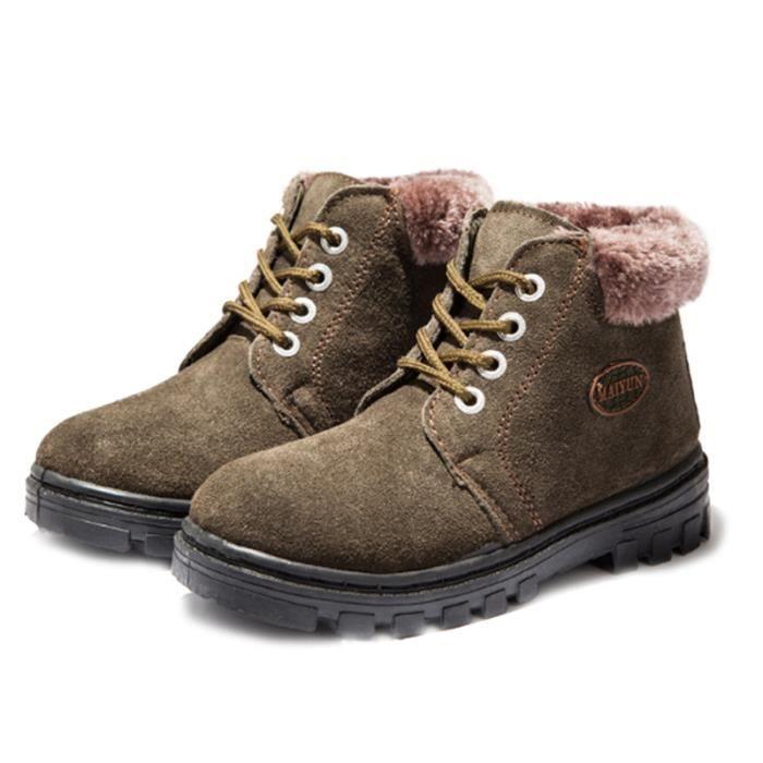 Martin Boots Enfants Hiver Garçons Fille Durable Chaussures FXG-XZ101Vert31