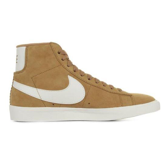 wholesale dealer 5a26d e28f5 Baskets Nike Blazer Mid Vintage Suede Marron Camel, blanc - Achat   Vente  basket - Cdiscount