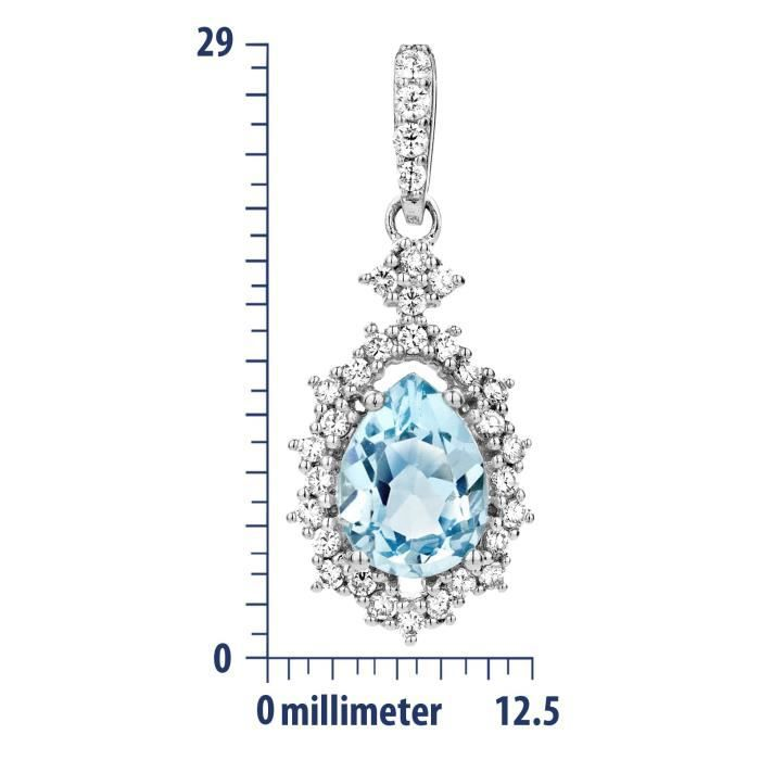 Collier Avec Pendentif - Argent 925-1000 - Poire G3FE5