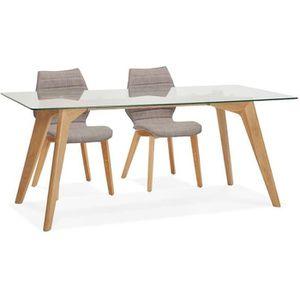 Table A Manger Avec Plateau En Verre Rectangulaire Achat