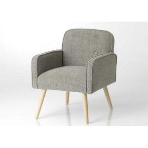 fauteuil fauteuil vintage scandinave gris chin nuage - Fauteuil Scandinave Vintage
