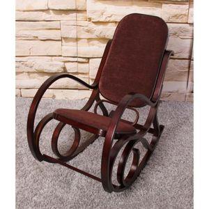 fauteuil rocking chair bois achat vente pas cher. Black Bedroom Furniture Sets. Home Design Ideas