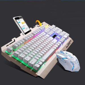 PACK CLAVIER - SOURIS LR Cool LED rétro-éclairé ergonomique Gaming clavi