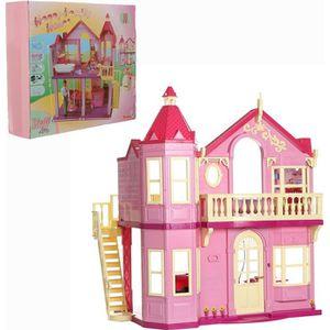 MAISON POUPÉE Grande Maison pliable, Adaptée Barbie et Steffi