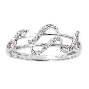 BAGUE - ANNEAU Revoni Bague Diamant Or Blanc 375° Femme  Poids du