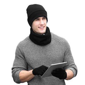 BONNET - CAGOULE VbigerD hiver Tricotés Ensemble bonnet pour Hommes ... fa08204055a