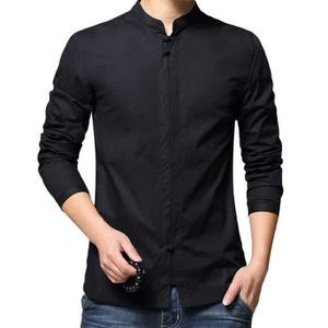 CHEMISE - CHEMISETTE Chemise Hommes Marque Luxe Couleur Casual Chemise