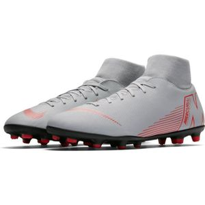 CHAUSSURES DE FOOTBALL CHAUSSURE FOOT NEWS SUPERFLY 6 CLUBS ADULTE GRISE