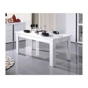 Table blanche salle a manger - Achat / Vente pas cher