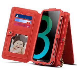 HOUSSE - ÉTUI Housse Étui rouge pour Samsung Galaxy S9 + et A8 +