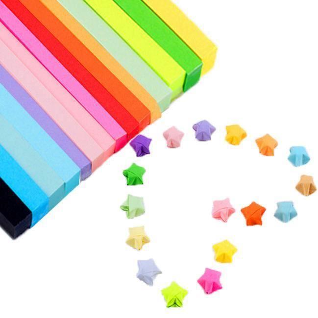 PORTE PAPIERS Plierty®Paquets de papiers d'étoile de couleur de
