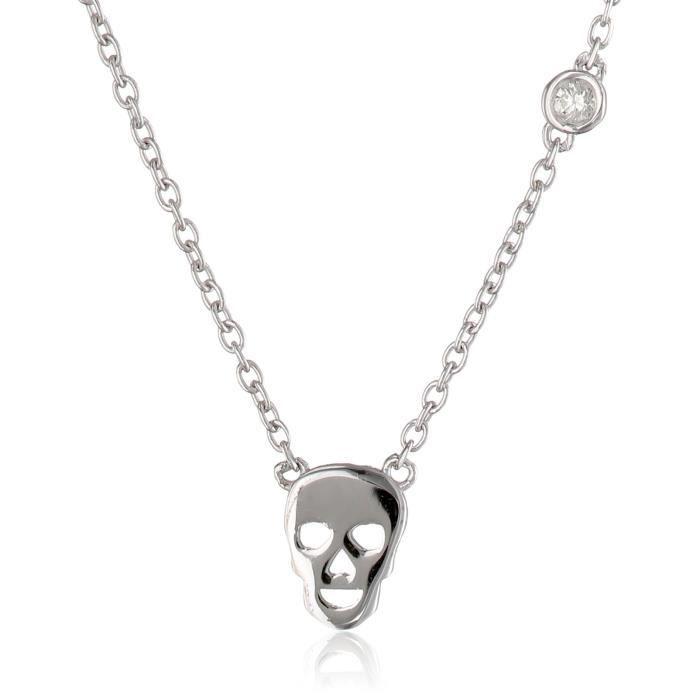 Skull Necklace With Diamond Bezel L4SVW