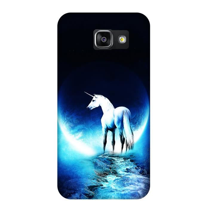 coque samsung galaxy a3 2016 licorne plan te bleu achat coque bumper pas cher avis et. Black Bedroom Furniture Sets. Home Design Ideas
