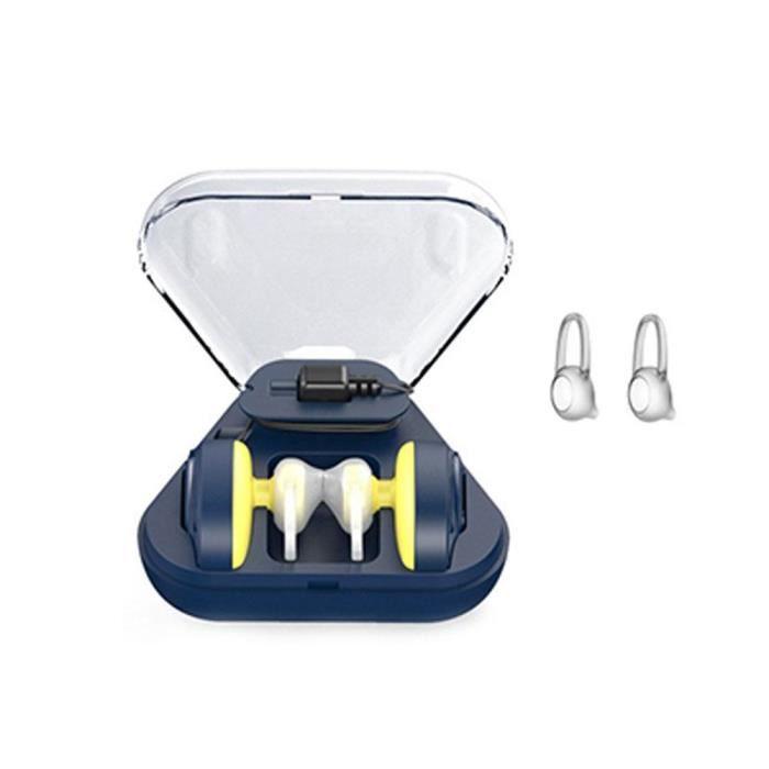 Mini Écouteurs Bluetooth Sans Fil Sports Avec Entrepôt De Charge Bleu
