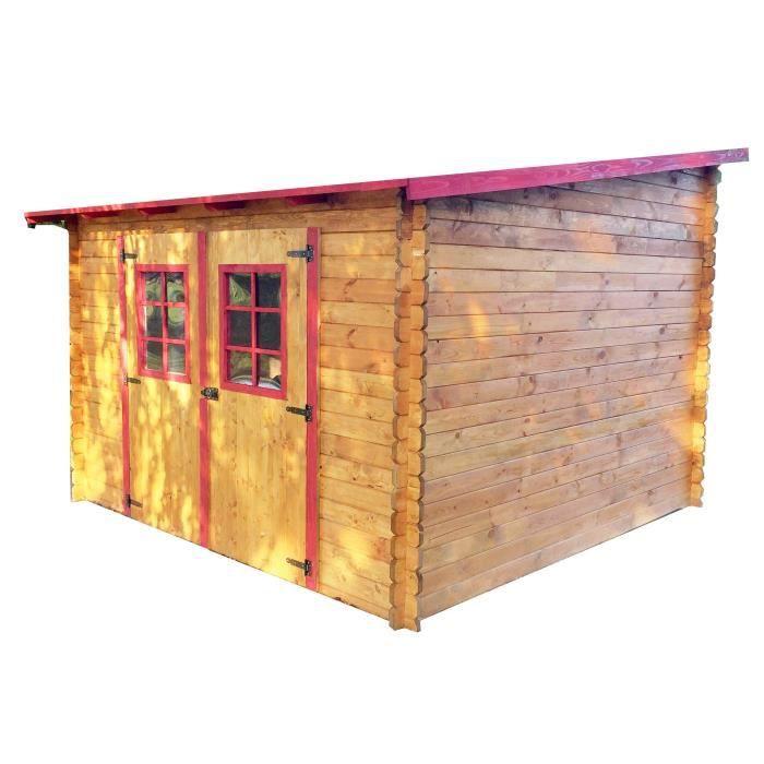 Abri jardin bois madrier - Achat / Vente pas cher