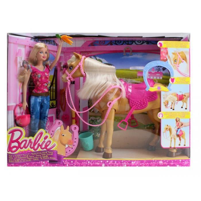 Mattel cheval achat vente jeux et jouets pas chers - Barbie au cheval ...