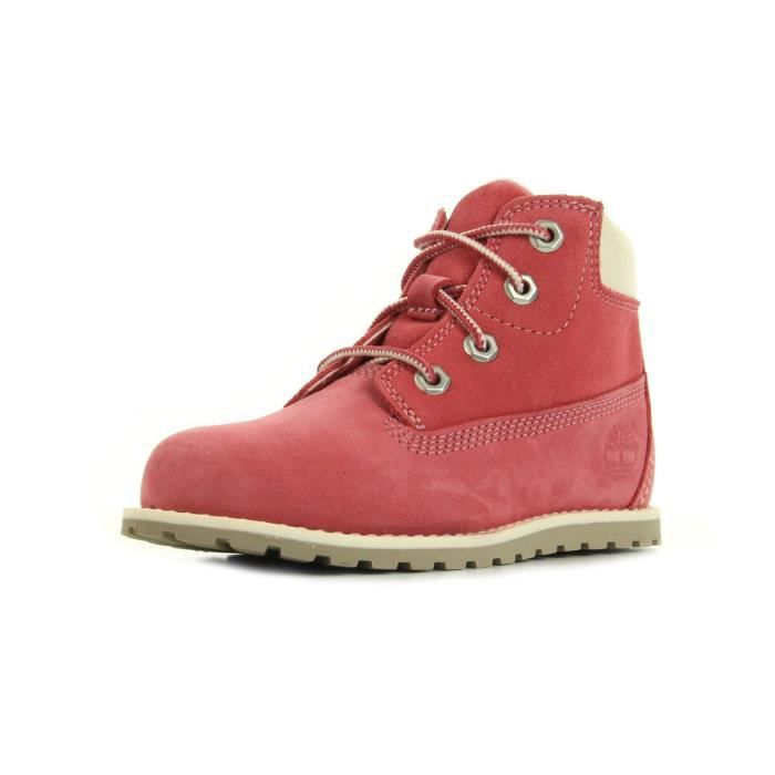 Boots Timberland Pokey Pine 6In Boot Side Zip Pink Nubuck