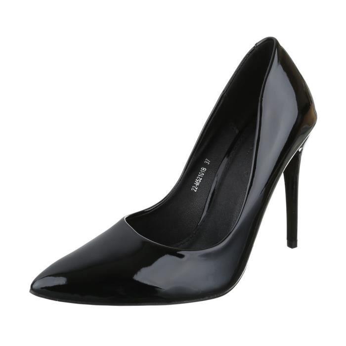 femme escarpin chaussure High-Heels Mules mule sandalette Stiletto noir
