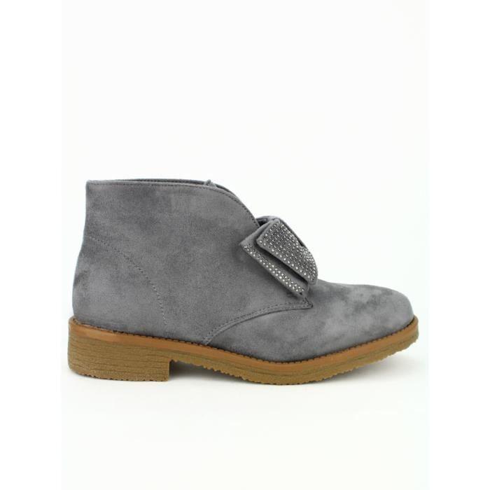 bottine - boots, Bottines Gris Chaussures Femme, Cendriyon