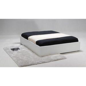 lit metal 140 x 190 avec sommier a lattes achat vente pas cher. Black Bedroom Furniture Sets. Home Design Ideas