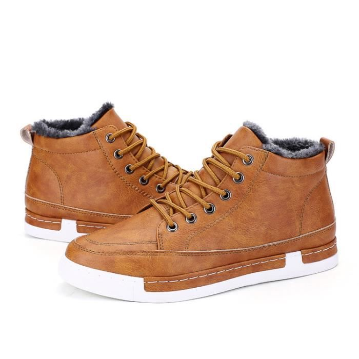 BOTTES HOMME D'HIVER CHAUSSURES HOMME AVEC VELOURS HIVER zqwjF5
