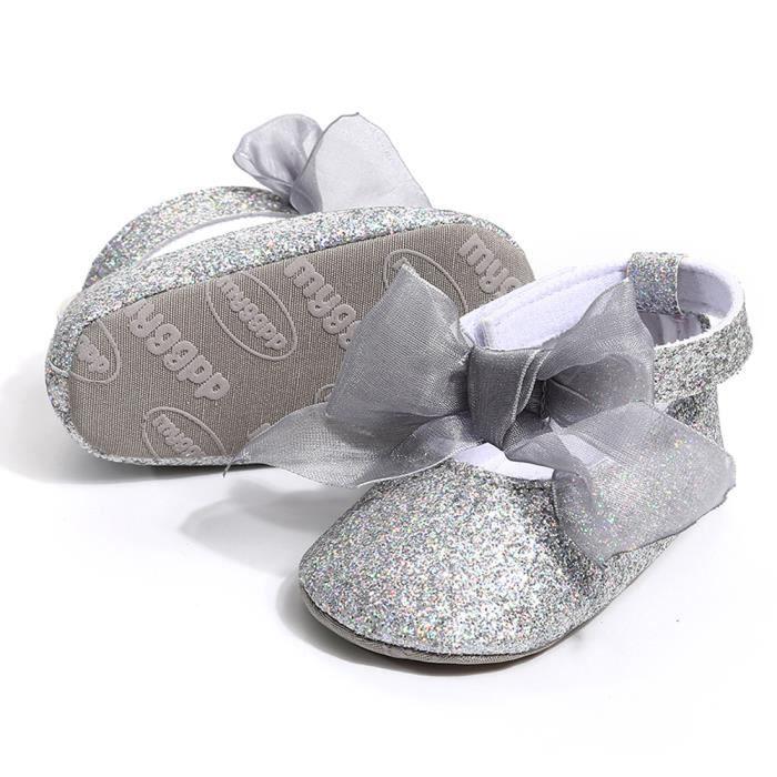 Enfant Hairband Bas ge Souples En Antidrapants Espadrille Argent Semelles Fille Chaussures Bb 0xdqZaw0