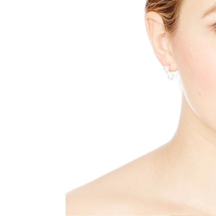 Mes-Bijoux.fr - Boucles doreilles Femme en Perles de culture Blanche et Argent 925-1000 - APEN574Wgv