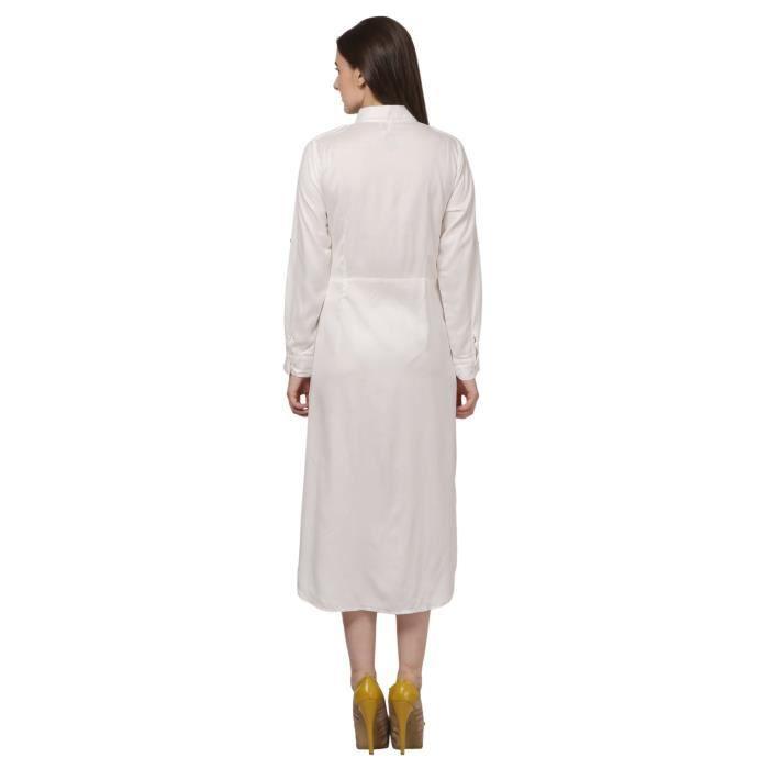 Shirt pour femmes Robe - Longueur et veau Robe en coton 1TZHOE Taille-40